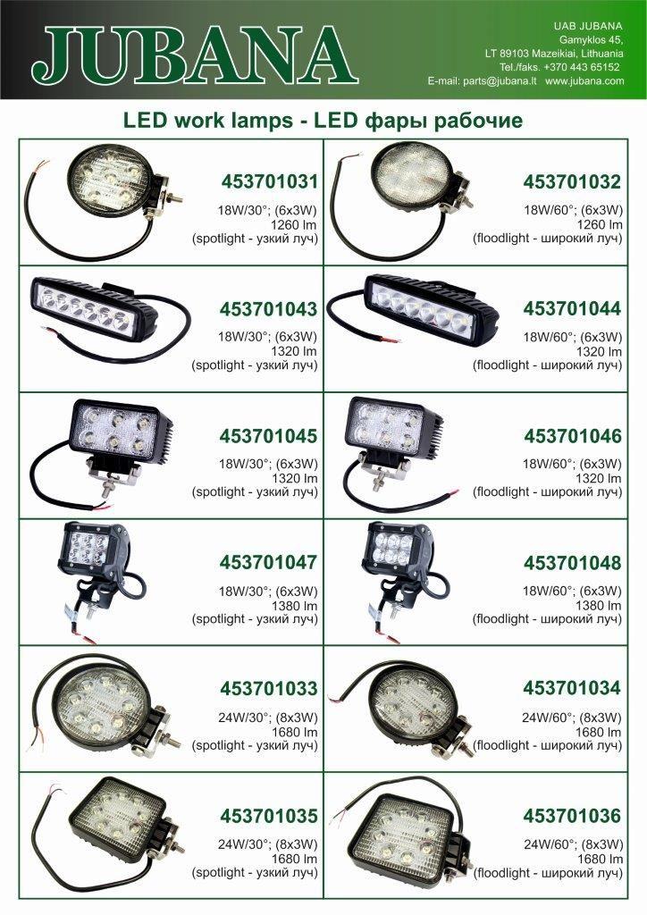 Jubana LED lempos 1