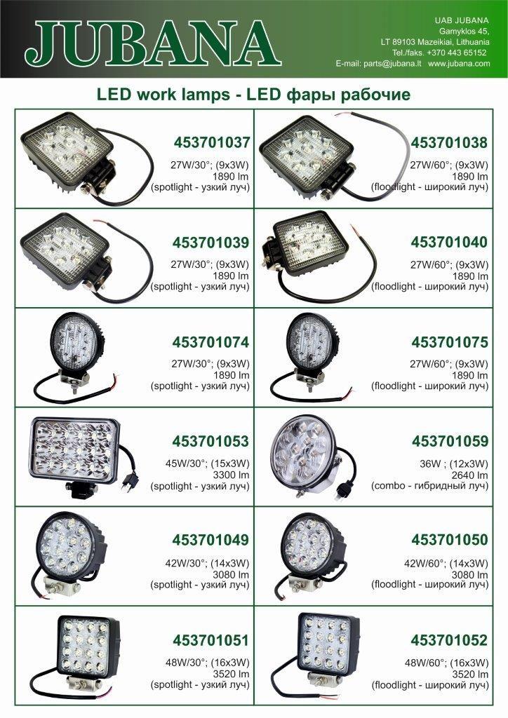 Jubana LED lempos 2