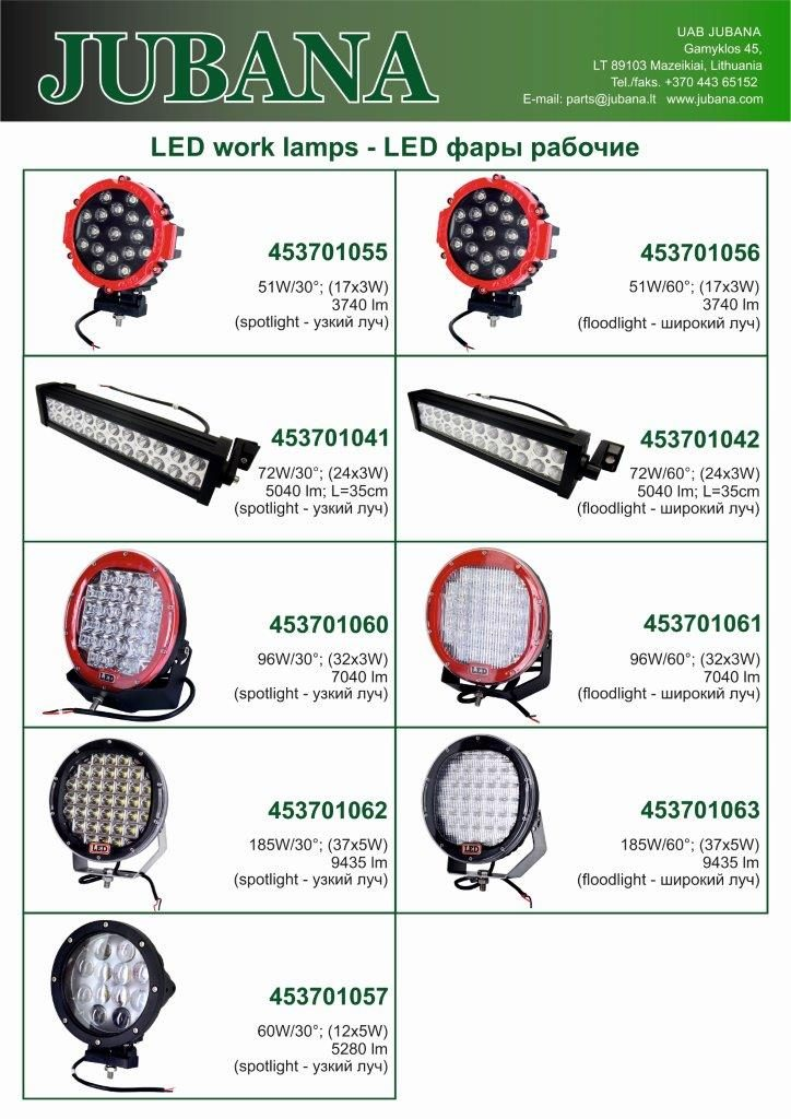 Jubana LED lempos 3