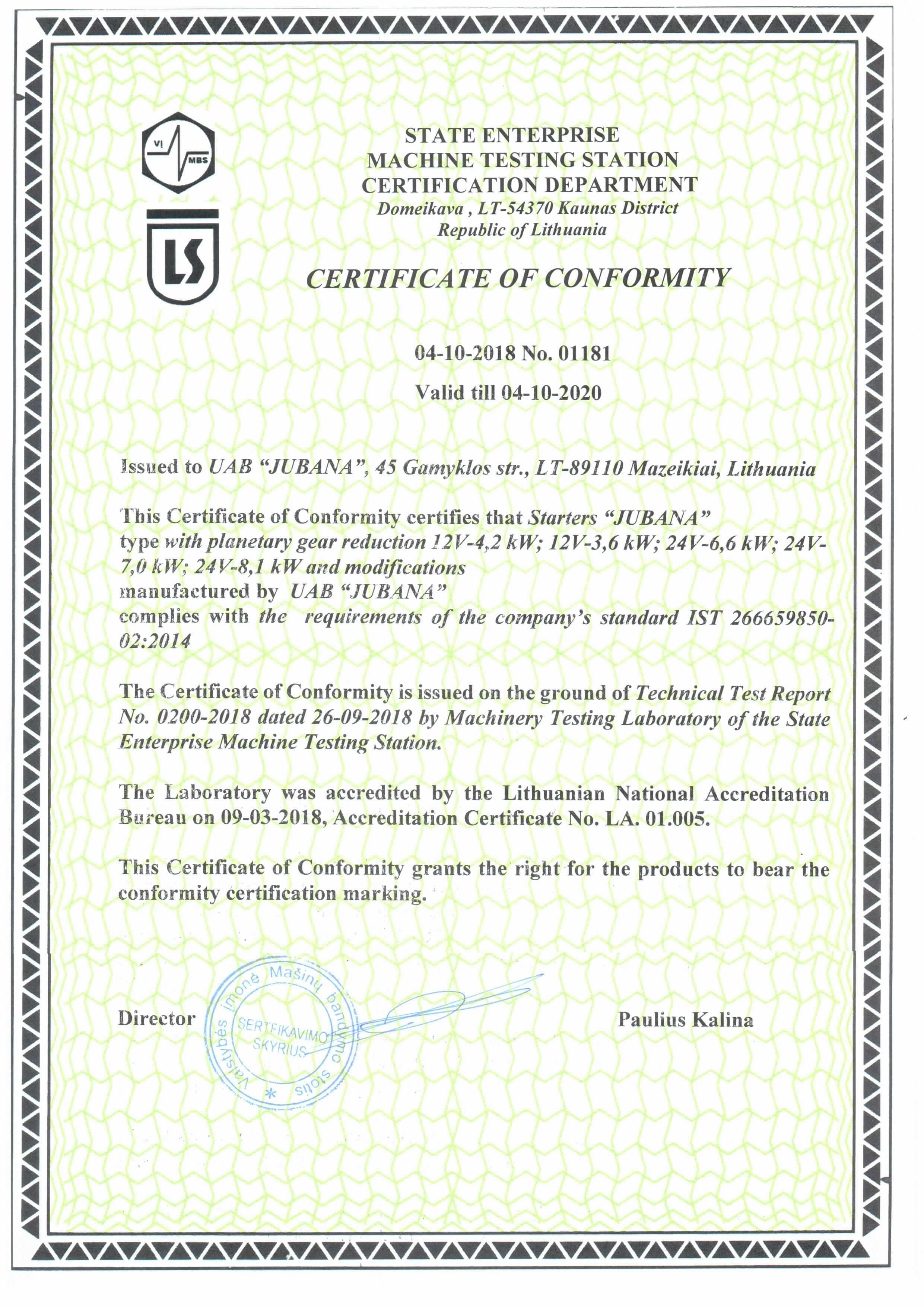 Starter certificate jubana plan-en