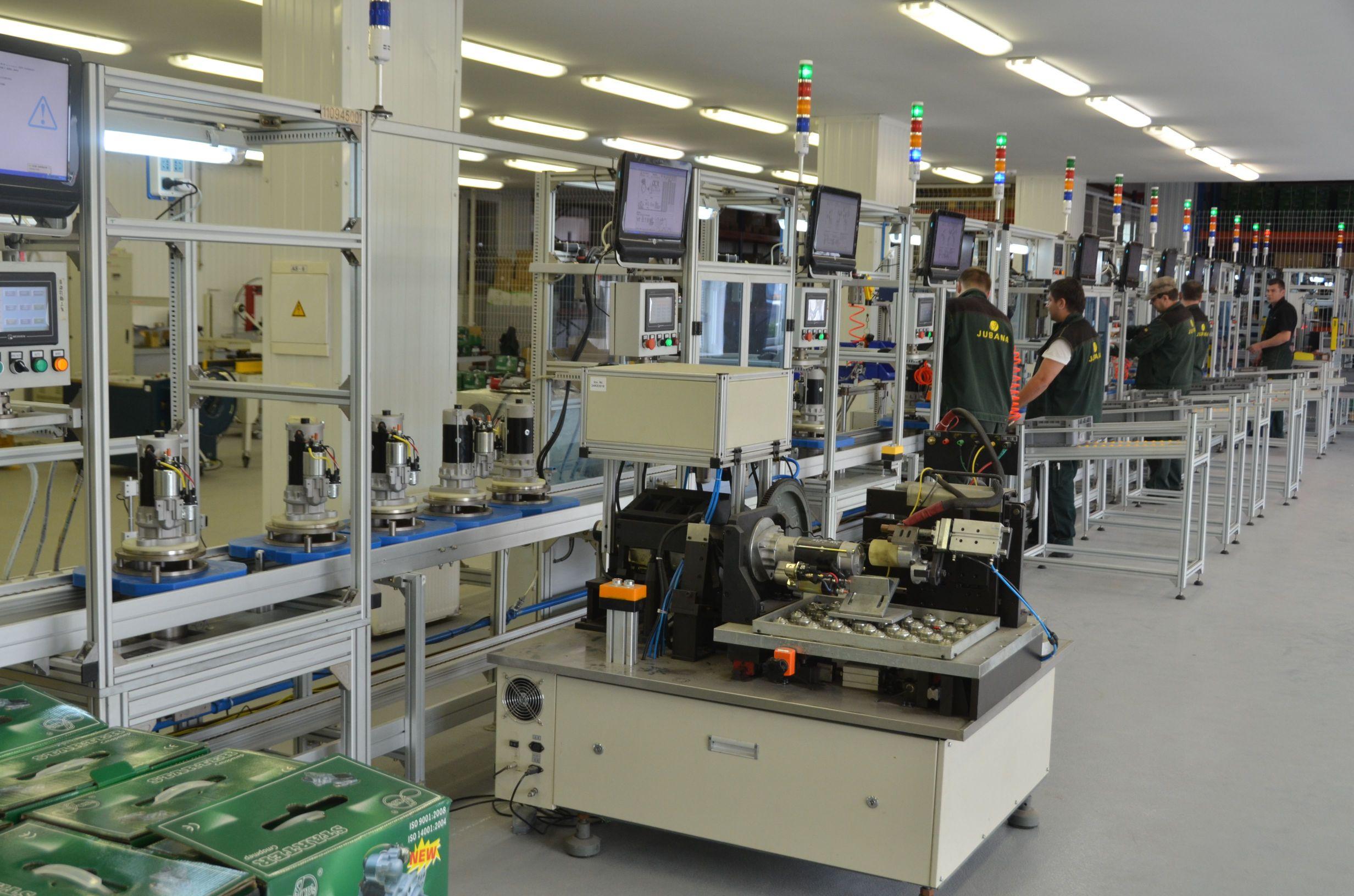 Jubana starters assembly line