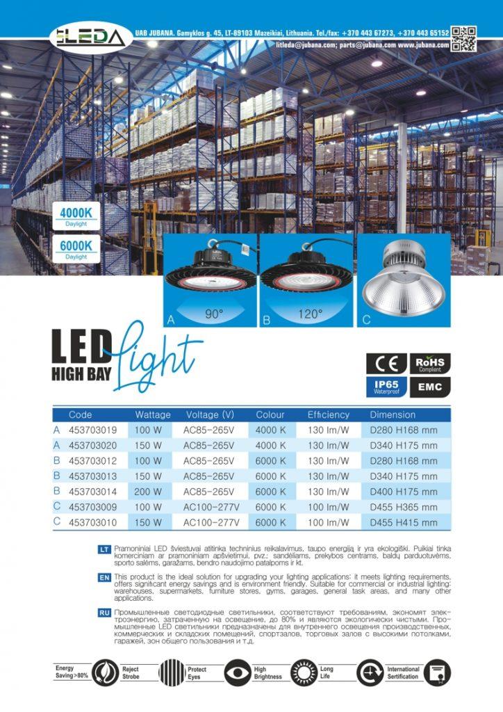 Litleda LED pramonines