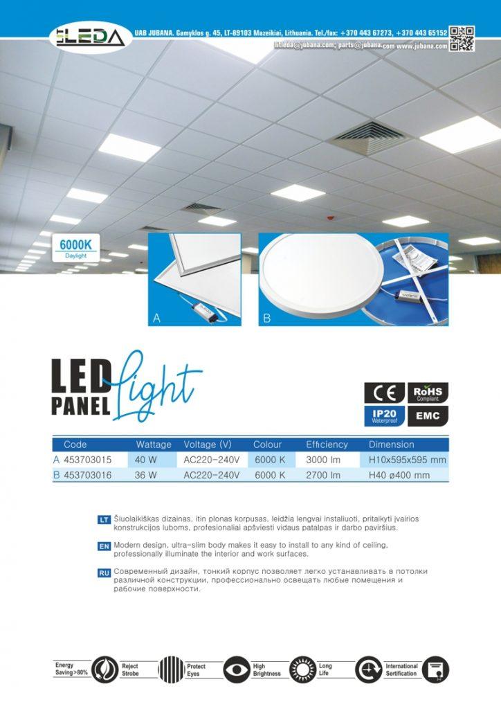 Litleda LED panelės