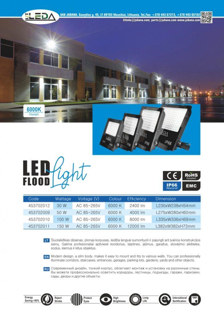 Litleda LED pramonines lauko