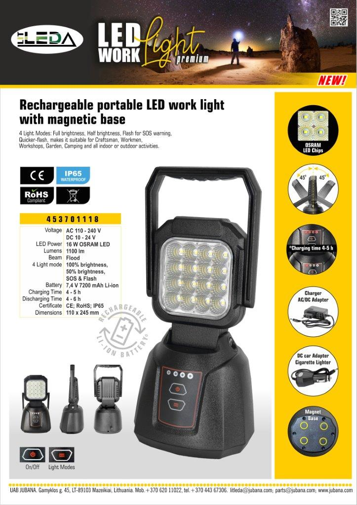 LITLEDA 453701118 ENG Work Light