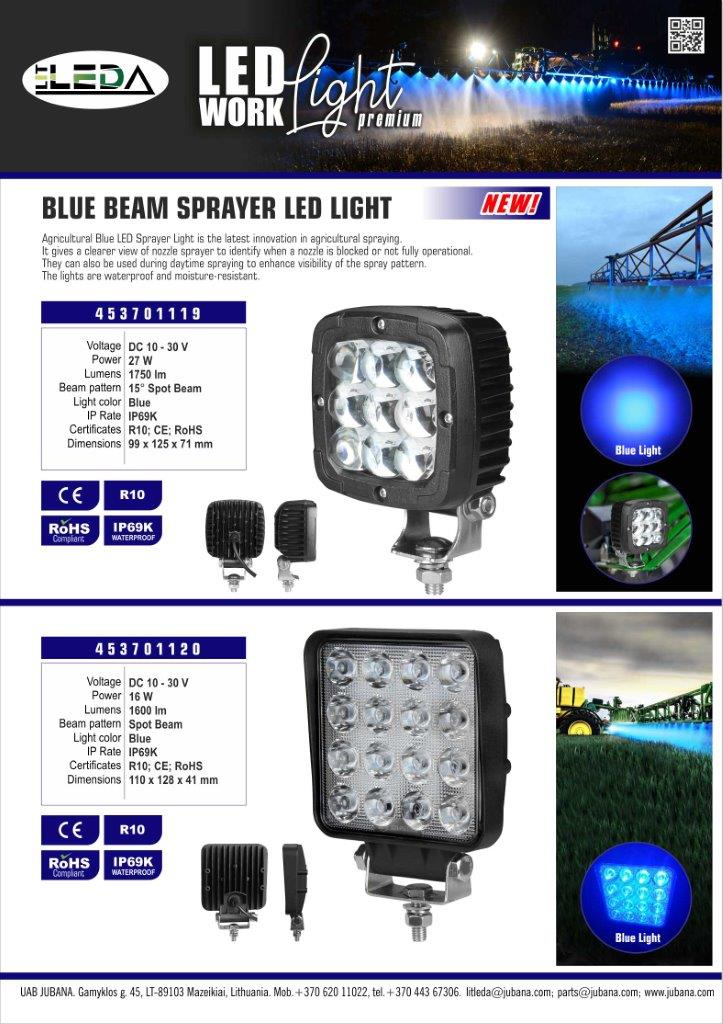 LED Blue Work Light - 453701119 453701120 EN