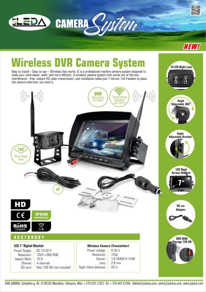 Naujienos video sistema wireless 453709001 LITLEDA